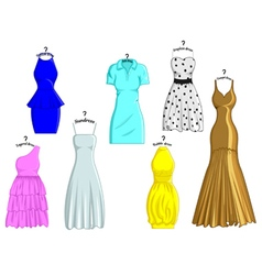 Styles of dresses vector