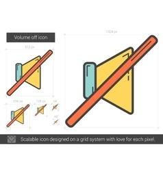 Volume off line icon vector