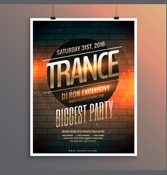 Party event flyer template including venue and vector