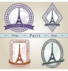 Vintage stamp Paris vector image