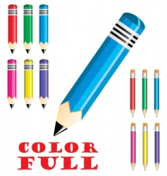 colorful crayons vector image