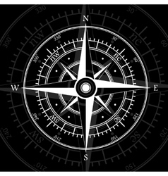 Compass black vector