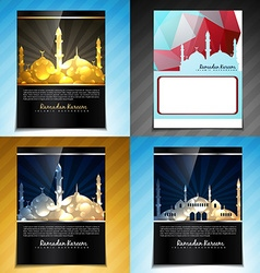 Set of attractive brochure design of eid fes vector