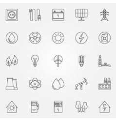 Energy and power icons vector