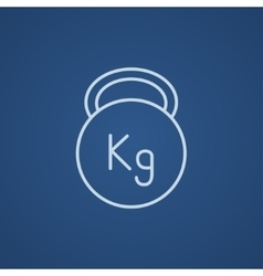 Kettlebell line icon vector