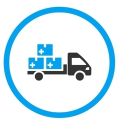 Medication delivery rounded icon vector