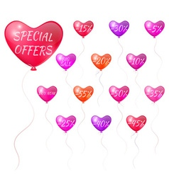 Balloons with discounts vector