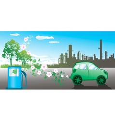 Eco friendly green car vector