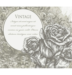 roses with vintage background vector image