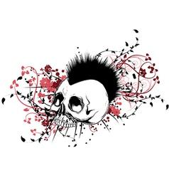 Skull tshirt design vector