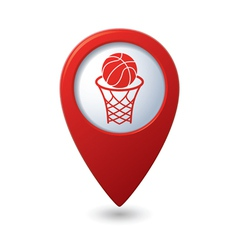 basketball RED pointer vector image vector image