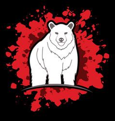 Big bear standing vector