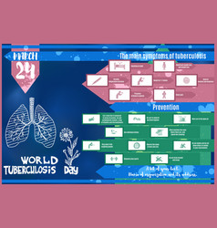 Blue bright brochure by march 24 world day vector