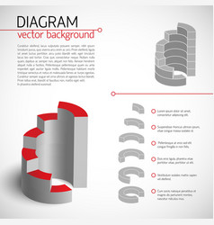 Business gray diagram template vector