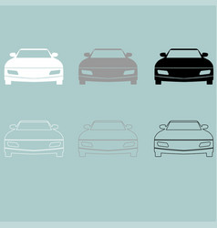 car white grey black icon car white grey vector image vector image