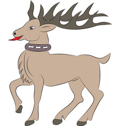 Cartoon deer on white background vector