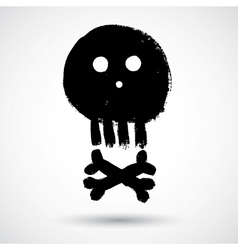 Cartoon doodle pirate skull vector