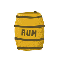 Cartoon style grunge rum barrel isolated vector