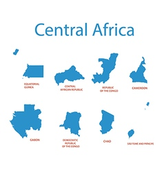 Central africa - maps of territories vector