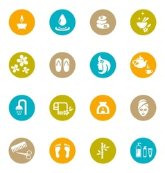 Colored Spa and Zen Icons on White vector image vector image