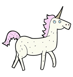 comic cartoon unicorn vector image