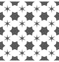 Creative ornamental seamless black pattern vector