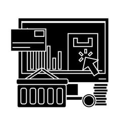 e commerce icon sign o vector image vector image