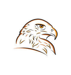 Eagle head outline vector