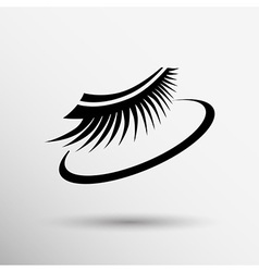 False lashes isolated eyelash fake eye woman up vector