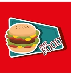fast food offer design vector image