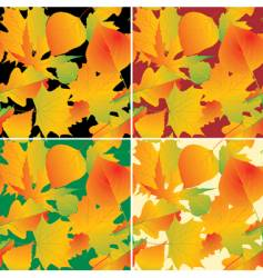 foliage backgrounds vector image