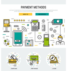 grey web page header template - payment methods vector image vector image