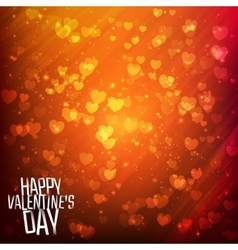 Happy Valentines day background with shining vector image vector image