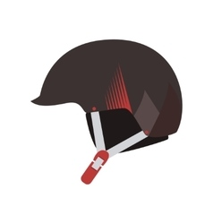 Helmet mountain skiing headwear vector image