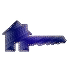 Home key sign vector