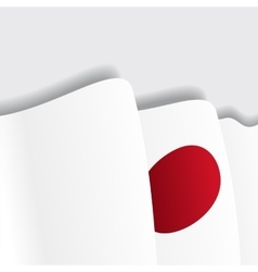 Japanese waving flag vector