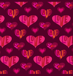 Mod valentines day heart pattern vector