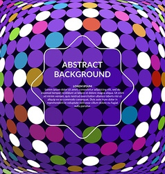 mosaic background Abstract 3D Sphere vector image vector image