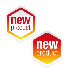 new product label tag sign vector image