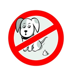 No pooh sign vector image vector image