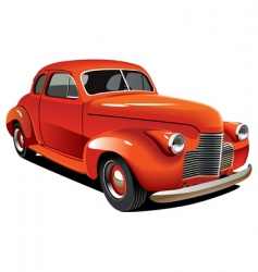 old-fashioned hot rod vector image vector image