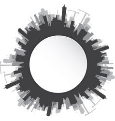 Round urban landscape vector image vector image
