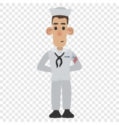 Sailor cartoon icon vector