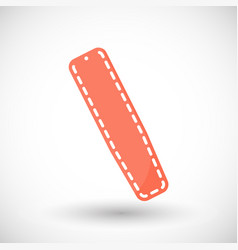 Spinal board flat icon vector
