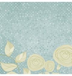 vintage rose card vector image