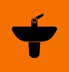 Wash basin icon vector