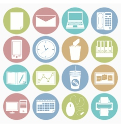 White icons office vector