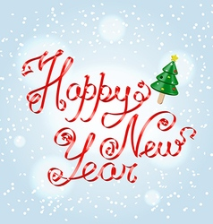 Happy new year greetings lettering vector