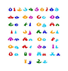 Hilarious comic alphabet vector