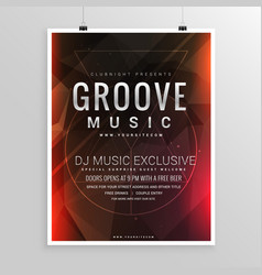Music party flyer poster event template vector